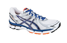 Asics Men's GT-2000 white/marine blue/neon orange